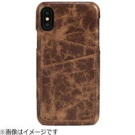 KRUSELL クルーセル iPhone X用 Tumba 2 Card Cover Apple ブラウンマーブル 61108