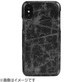 KRUSELL クルーセル iPhone X用 Tumba 2 Card Cover Apple ブラックマーブル 61107