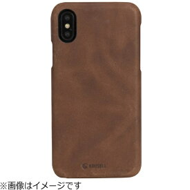 KRUSELL クルーセル iPhone X用 Sunne Cover Apple Vintage コニャック 61106