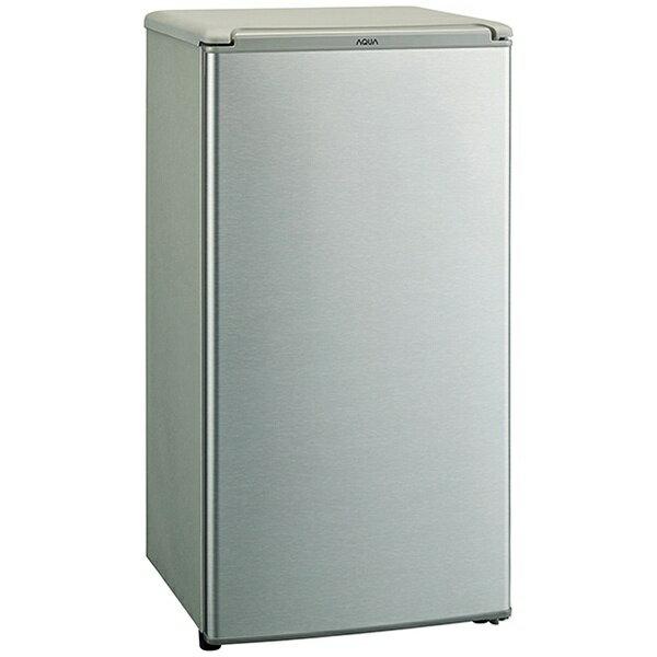 AQUA アクア 《基本設置料金セット》AQR-8G(S) 冷蔵庫 ブラッシュシルバー [1ドア /右開きタイプ /75L][AQR8G_S] [一人暮らし 単身 単身赴任 新生活 家電]