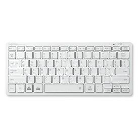 エレコム ELECOM TK-FBP102XWH キーボード ミニ ホワイト [Bluetooth /ワイヤレス][TKFBP102XWH]