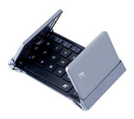 3E スリーイー 【スマホ/タブレット対応】ワイヤレスキーボード[Bluetooth・Android/iOS/Win]NEO(ネオ) 3つ折りタイプ スタンド付(英語64キー・ブラック) 3E-BKY8-BK [ワイヤレス][3EBKY8BK]