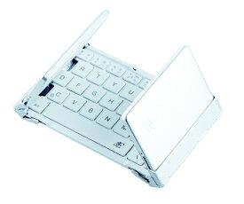 3E スリーイー 【スマホ/タブレット対応】ワイヤレスキーボード[Bluetooth・Android/iOS/Win]NEO(ネオ) 3つ折りタイプ スタンド付(英語64キー・ホワイト) 3E-BKY8-WH [ワイヤレス][3EBKY8WH]