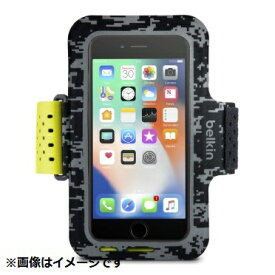 BELKIN ベルキン iPhone 8用 Sports Fit Proアームバンド ブラック/イエロー F8W847btC00