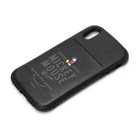PGA iPhone X用 ディズニー タフポケットケース ミッキーマウス・ブラック PG-DCS301MKY