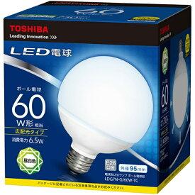 東芝 TOSHIBA LED電球 (ボール電球形・全光束730lm/昼白色相当・口金E26) LDG7N-G/60W-TC[LDG7NG60WTC]