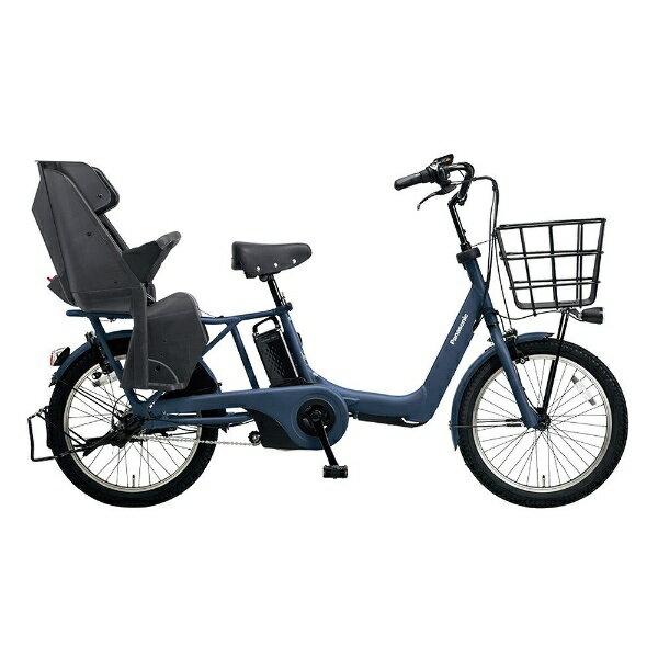 【送料無料】 パナソニック 20型 電動アシスト自転車 ギュット・アニーズ・DX(マットネイビー/内装3段変速) BE-ELA03V【2018年モデル】【組立商品につき返品不可】 【代金引換配送不可】