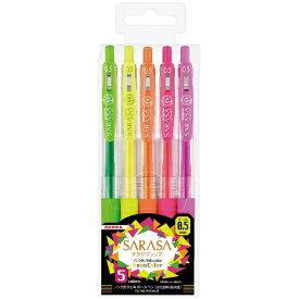 ゼブラ ZEBRA [ジェルボールペン]サラサクリップ ネオンカラー5色セット(ボール径:0.5mm) JJ15-5C-NO