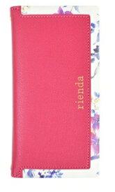エムディーシー MDC iPhone 8用 rienda スクエア 手帳型ケース ブラーフラワー・ピンク md-72717