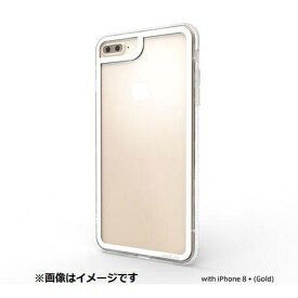 ABSOLUTE TECHNOLOGY アブソルート iPhone 8 Plus用 LINKASE CLEAR Gorilla Glass ホワイト縁・クリアTPU ATLCGIP8P7P/WHT