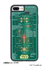 電子技販 iPhone 8 Plus用 STAR WARS FLASH X-WING 基板アートケース 緑 P7P060G