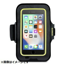 BELKIN iPhone 8 Plus用 Sports Fitアームバンド ブラック/イエロー F8W846btC00