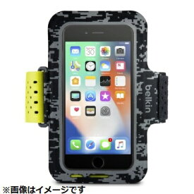 BELKIN iPhone 8 Plus用 Sports Fit Proアームバンド ブラック/イエロー F8W848btC00