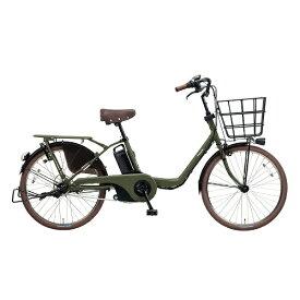 パナソニック Panasonic 22型 電動アシスト自転車 ギュット・ステージ・22(マットカーキグリーン/内装3段変速) BE-ELMU232G2【2018年モデル】【組立商品につき返品不可】 【代金引換配送不可】