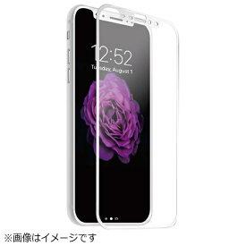 HAMEE ハミィ [iPhoneX]プレミアムガラス9H PETフレームガラスシートアンチグレア0.26mm