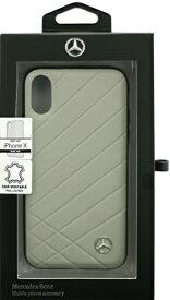 エアージェイ air-J iPhone X用 MERCEDES BENZ 本革ハードケース グレー MEHCPXCLIGR