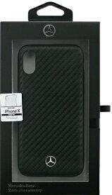 エアージェイ air-J iPhone X用 MERCEDES BENZ カーボン調PUハードケース ブラック MEHCPXSRCFBK