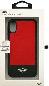 エアージェイ air-J iPhone X用 MINI ナイロンハードケース レッド MINYHCPXRE