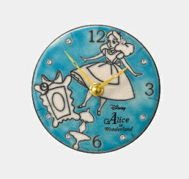 リズム時計 RHYTHM 掛置兼用時計 Alice/Pottery clocck 青 ZC943MC04