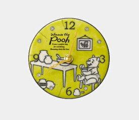 リズム時計 RHYTHM 掛置兼用時計 Wiinie the pooh/Pottery clocck 黄 ZC942MC33