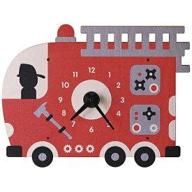 ダイヤモンド 掛け時計 3D消防車 PC072 modern moose(モダンムース) 9806035