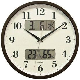 フォルミア Formia 掛け時計 【Formia(フォルミア)】 ブラウン HWC-001 [電波自動受信機能有]