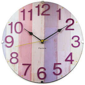 保土ヶ谷電子販売 Hodogaya denshi 掛け時計 Formia(フォルミア) ピンク HIC-001PK