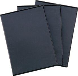 ロアス LOAS DVDケース 5枚収納×3 ブラック DVD-A007-3BK[DVDA0073BK]