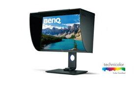 BenQ ベンキュー SW271 27型4Kカラーマネジメントモニター/ディスプレイ (4K UHD/IPS/AdobeRGB 99%/Display P3 93%/HDR10対応/USB-C接続/HWキャリブレーション対応/高さ調整・回転)、遮光フード同梱 SWシリーズ グレー SW271 [27型 /ワイド /4K(3840×2160)][SW271]