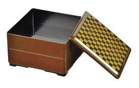 パール金属 PEARL METAL 個々膳 角型二段重 市松 K6342 ゴールド[K6342]