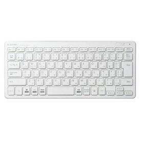 エレコム ELECOM TK-FBP100WH キーボード 超薄型ミニ ホワイト [Bluetooth /ワイヤレス][TKFBP100WH]