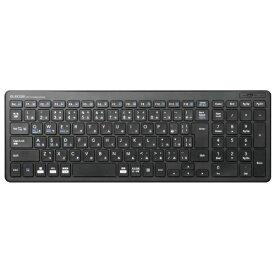 エレコム ELECOM キーボード 超薄型コンパクト ブラック TK-FBP101BK [Bluetooth /ワイヤレス][TKFBP101BK]