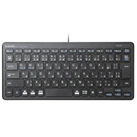 エレコム ELECOM キーボード ミニ ブラック TK-FCP096BK [USB /有線][TKFCP096BK]