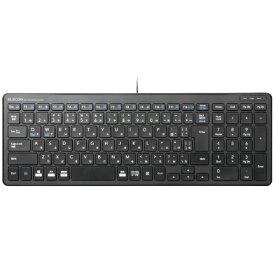 エレコム ELECOM キーボード コンパクト ブラック TK-FCP097BK [USB /有線][TKFCP097BK]