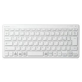 エレコム ELECOM TK-FDP098TWH キーボード ミニ ホワイト [USB /ワイヤレス][TKFDP098TWH]