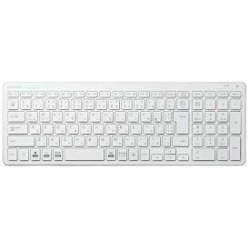 エレコム ELECOM キーボード 超薄型コンパクト ホワイト TK-FDP099TWH [USB /ワイヤレス][TKFDP099TWH]