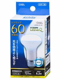 オーム電機 OHM ELECTRIC LDR6D-W A9 LED電球 LEDdeQ ホワイト [E26 /昼光色 /1個 /60W相当 /レフランプ形][LDR6DWA9]