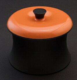 穴織カーボン ANAORI CARBON ≪IH対応≫ カーボン製小型鍋 「COCOTTE RINGO(ココット リンゴ)」(0.55L) RG001SO スパニッシュオレンジ[RG001SO]