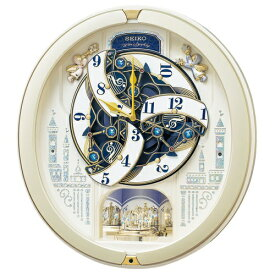 セイコー SEIKO からくり時計 【ウェーブシンフォニー】 薄金色パール RE579S [電波自動受信機能有]