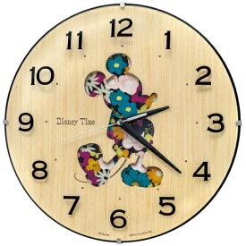 セイコー SEIKO 掛け時計 Disney Time(ディズニータイム)ミッキー 天然色木地 FW586B[FW586B]