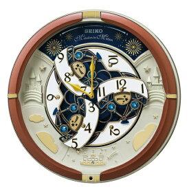セイコー SEIKO からくり掛け時計 RE601B RE601B 茶メタリック