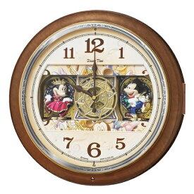 セイコー SEIKO からくり時計 【Disney Time(ディズニータイム)ミッキー&フレンズ】 茶マーブル模様 FW587B [電波自動受信機能有]