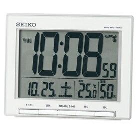 セイコー SEIKO 目覚まし時計 銀色メタリック SQ786S [デジタル /電波自動受信機能有]