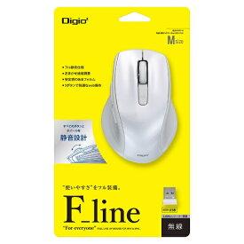 ナカバヤシ Nakabayashi MUS-RKF144W マウス Digio2 F_lineシリーズ ホワイト [BlueLED /5ボタン /USB /無線(ワイヤレス)][MUSRKF144W]