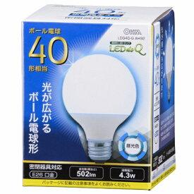 オーム電機 OHM ELECTRIC LDG4D-G AH92 LED電球 LEDdeQ ホワイト [E26 /昼光色 /1個 /40W相当 /ボール電球形 /広配光タイプ][LDG4DGAH92]