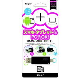 ナカバヤシ Nakabayashi CRW-TCMSD72BK microSD/SDカード専用カードリーダー Digio2 ブラック [USB2.0]