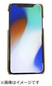 ウイルコム WILLCOM iPhoneX専用背面本革ケースライトブラウン