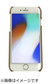 ウイルコム WILLCOM iPhone8専用背面本革ケースライトブラウン