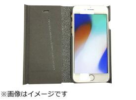 ウイルコム WILLCOM iPhone8専用 手帳型 ラウンドブックケースグレイ