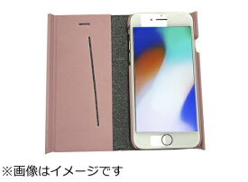 ウイルコム WILLCOM iPhone8専用 手帳型 ラウンドブックケースピンク